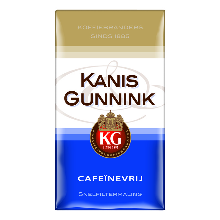 kanis gunnik koffeinfrei filterkaffee 500gr kaufen holl ndische lebensmittel produkte aus den. Black Bedroom Furniture Sets. Home Design Ideas